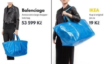 IKEA vtipně zareagovala na předraženou kabelku za 53 000 Kč od návrháře, která vypadá přesně jako IKEA taška za 19 Kč