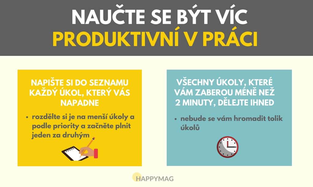 jak být produktivnější v práci