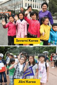 rozdílů mezi Severní a Jižní Korejí